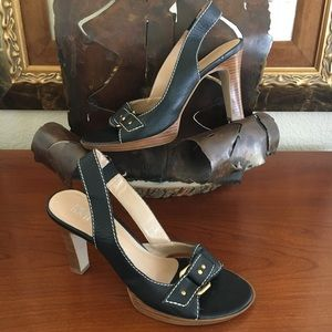 Franco Sarto Boho Heel Slingback Sandal Wore1x